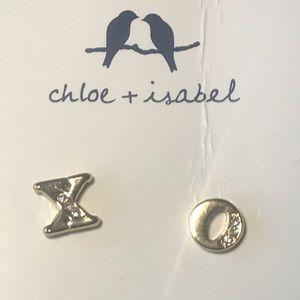 XO Hugs and Kisses stud earrings